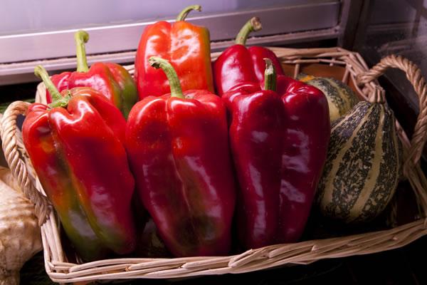 Verduras frescas en el Asador Guetaria de Bilbao
