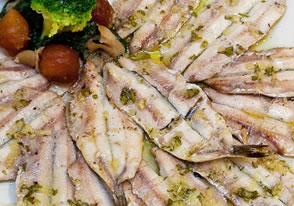 anchoas a la brasa asador guetaria
