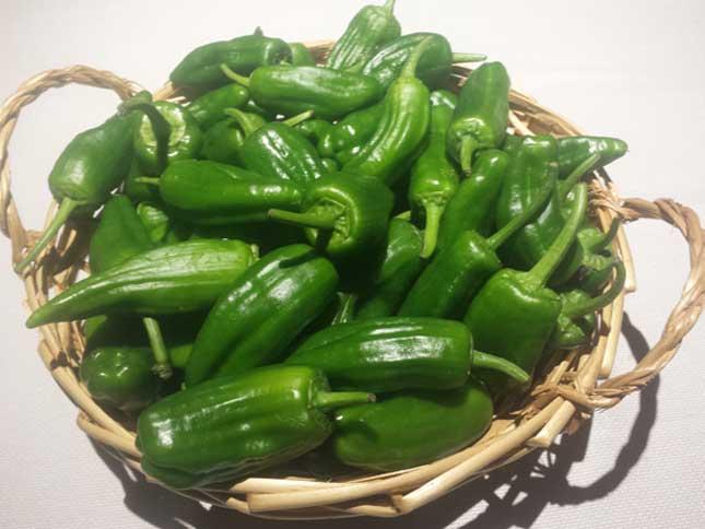 Pimientos verdes de Gernika en el Asador Getaria
