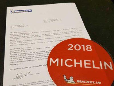 Carta del Guetaria en Guía Michelin